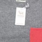 Pull gris chiné/Poche marine